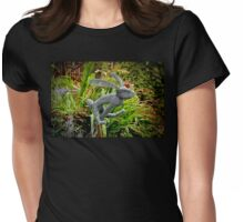 Doing the bunny hop Womens Fitted T-Shirt