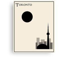 Toronto Minimalist Travel Poster - Beige Version Canvas Print