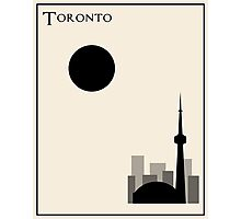 Toronto Minimalist Travel Poster - Beige Version Photographic Print