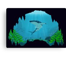Great White Sharks Canvas Print