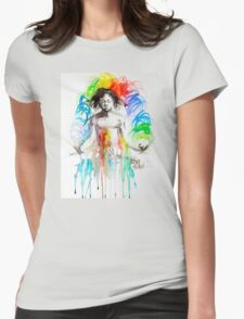Rainbow Meditation Womens Fitted T-Shirt