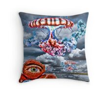 Hunting the Blue Tangelo Throw Pillow