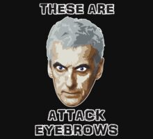 Doctor Who 12 Peter Capaldi - Attack Eyebrows T-Shirt