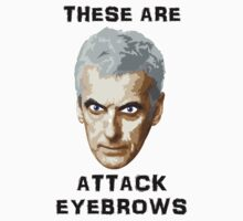 Doctor Who 12 Peter Capaldi - Attack Eyebrows Kids Tee