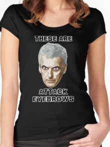 Doctor Who 12 Peter Capaldi - Attack Eyebrows Women's Fitted Scoop T-Shirt