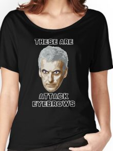 Doctor Who 12 Peter Capaldi - Attack Eyebrows Women's Relaxed Fit T-Shirt
