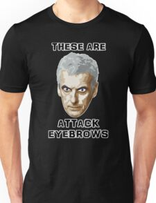 Doctor Who 12 Peter Capaldi - Attack Eyebrows Unisex T-Shirt