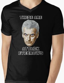Doctor Who 12 Peter Capaldi - Attack Eyebrows Mens V-Neck T-Shirt