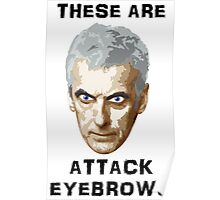 Doctor Who 12 Peter Capaldi - Attack Eyebrows Poster