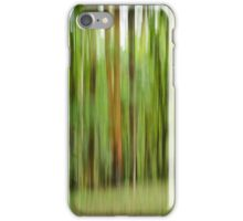 blurry trees iPhone Case/Skin