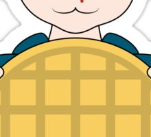 Stranger Things Eleven Cartoon Eggo Waffle Sticker