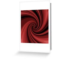 Decorative red twist  Greeting Card