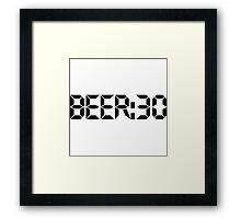 Beer:30 Framed Print