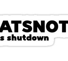 shutdown Sticker