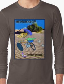 BICYCLE FANTASY; Dessert Classic Race Poster Long Sleeve T-Shirt