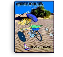 BICYCLE FANTASY; Dessert Classic Race Poster Canvas Print