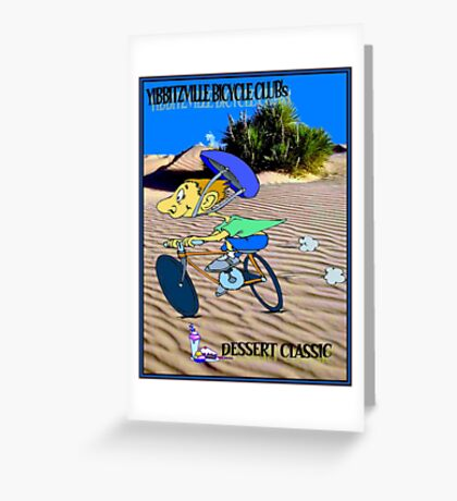 BICYCLE FANTASY; Dessert Classic Race Poster Greeting Card