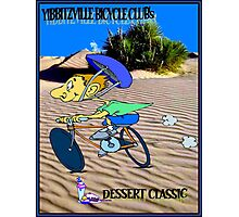 BICYCLE FANTASY; Dessert Classic Race Poster Photographic Print