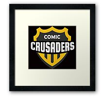 Comic Crusaders Gear 2 Framed Print