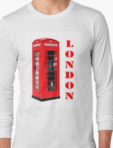 Red London Telephone Box souvenir Long Sleeve T-Shirt