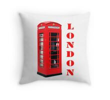 Red London Telephone Box souvenir Throw Pillow