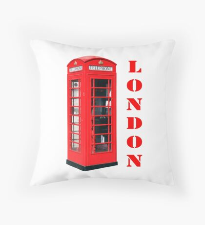 Red London Telephone Box souvenir Throw Pillow