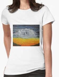 Birds at sunrise Womens Fitted T-Shirt
