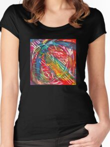 Dance Notation of Dog After Receiving a Treat, watercolor by Dan Vera Women's Fitted Scoop T-Shirt