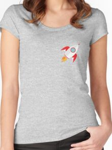 A rocket that rocks Women's Fitted Scoop T-Shirt