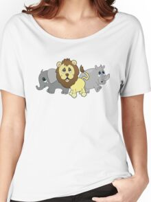 African animal Repeating Pattern Women's Relaxed Fit T-Shirt