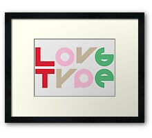 Love Type Framed Print