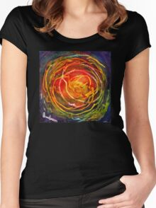 Perspective, or The Crab Nebula Knows Nothing Of Donald Trump Women's Fitted Scoop T-Shirt
