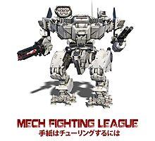 Mech Fighting League Photographic Print