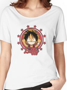 ONE PIECE: Monkey D Luffy Chibi Women's Relaxed Fit T-Shirt