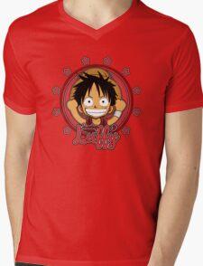ONE PIECE: Monkey D Luffy Chibi Mens V-Neck T-Shirt