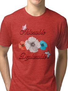ADORABLE DEPLORABLE DONALD TRUMP HILLARY CLINTON WOMEN'S RED WHITE BLUE 2 Tri-blend T-Shirt