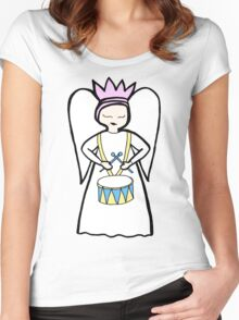 Drum Angel Women's Fitted Scoop T-Shirt