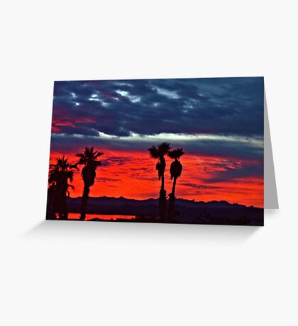 New Year Sunset Greeting Card