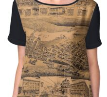Map Of Vancouver 1890 Chiffon Top