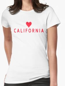Califoria with Heart Love Womens Fitted T-Shirt
