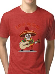 Day of the Dead Mexican Musician Tri-blend T-Shirt