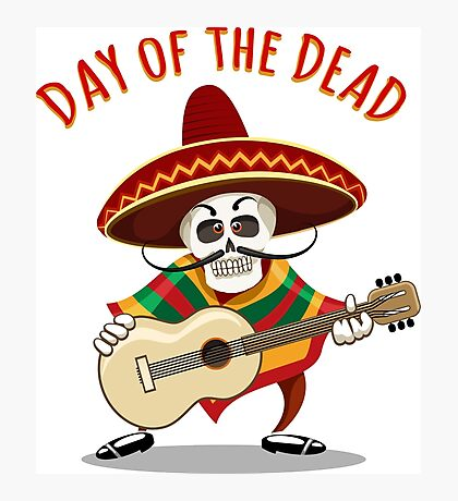 Day of the Dead Mexican Musician Photographic Print