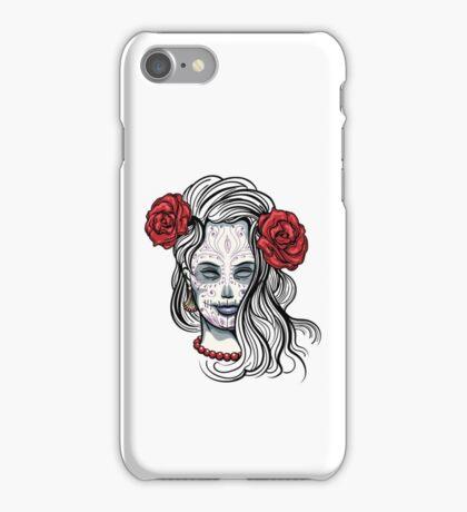 Girl with Sugar Skull Makeup iPhone Case/Skin