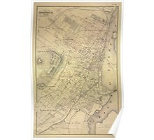 Map Of Montreal 1875 Poster