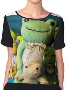 pickles frog family Chiffon Top