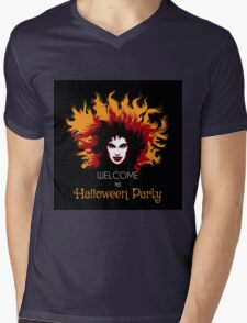 Welcome to Halloween Party Poster Mens V-Neck T-Shirt