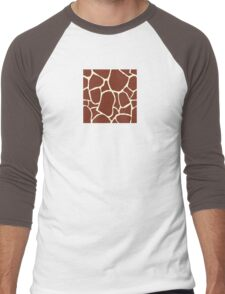 Giraffe seamless pattern texture. Giraffe background animal skin Men's Baseball ¾ T-Shirt