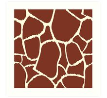 Giraffe seamless pattern texture. Giraffe background animal skin Art Print