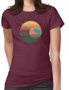 Los Angeles Sunset Womens Fitted T-Shirt