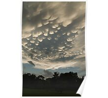 Bizarre Mammatus Clouds After a Storm Poster
